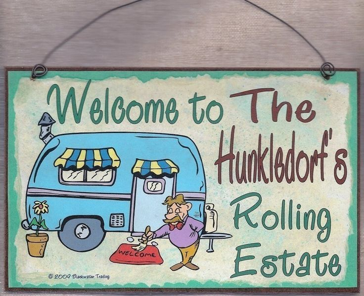 PERSONALIZED Camper SIGN Welcome Rolling Estate Camping RV Travel Trailer 8 x 5 Recreational Vehicle Plaque. $5.95, via Etsy.