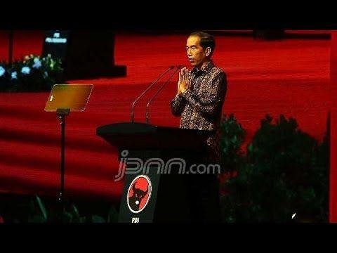 Momen Lucu Saat Pidato Jokowi Di Rakernas PDIP Takut DiMarahi Ahok, JK -...