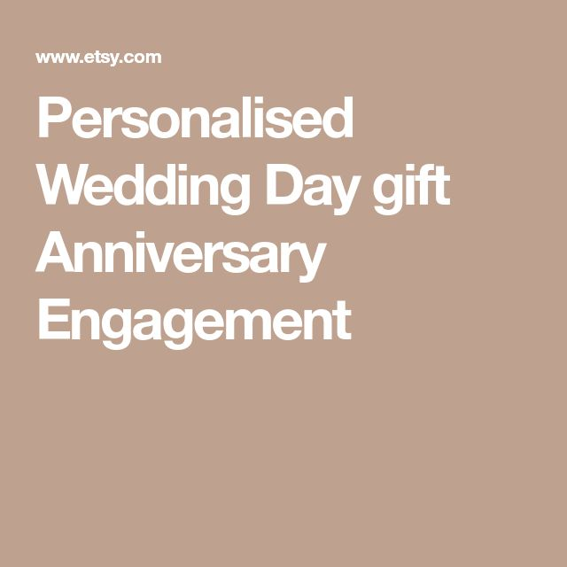 Personalised Wedding Day gift Anniversary Engagement