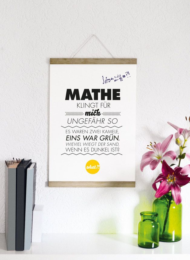 Poster mit Spruch, Mathe // quote print, math via DaWanda.com