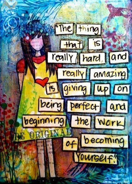 Becoming yourself quote via Carol's Country Sunshine on Facebook