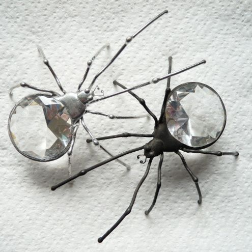 Spider Rings - I GUESS FOR SOME, THESE RINGS WOULD BE CREEPY, HOWEVER I THINK THEY HAVE'A SENSE OF HUMOUR' ABOUT THEM AND REALLY LIKE THEM!! VERY DIFFERENT OUI!!