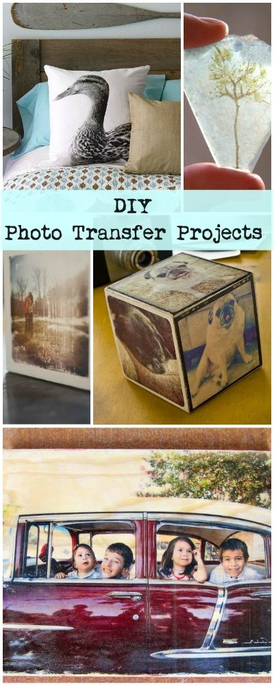 DIY Photo Transfer Projects • Lots of great Ideas & Tutorials!