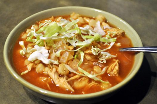 Chicken Pozole with Casa Corona Red Enchilada sauce!