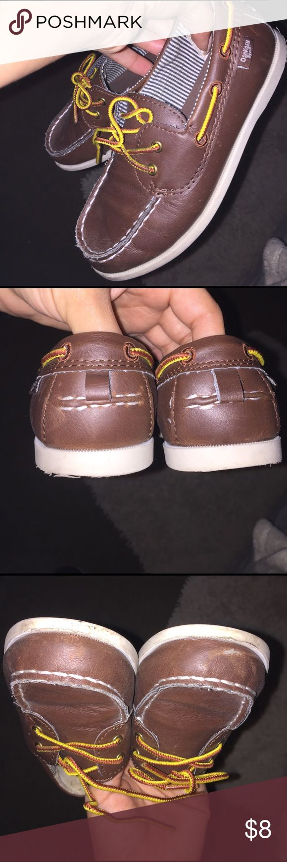 Boys Boat Shoes Brown Boat Shoes.. Wear is Shown in Pics Osh Kosh Shoes Dress Shoes