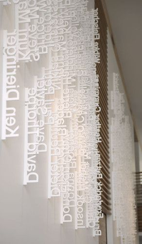 detail of white dimensional type