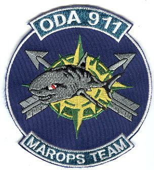 19th Special Forces Group Pocket Patches Operational Detachment A-911 A Company, 1st Battalion Type 2