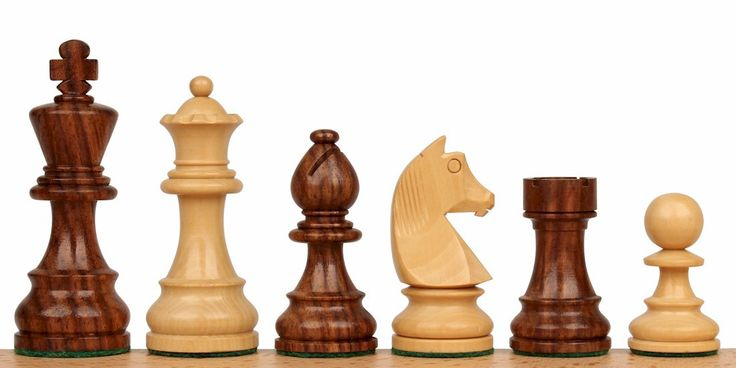 "German Knight Staunton Chess Set in Golden Rosewood & Boxwood - 2.75"" King - The Chess Store"