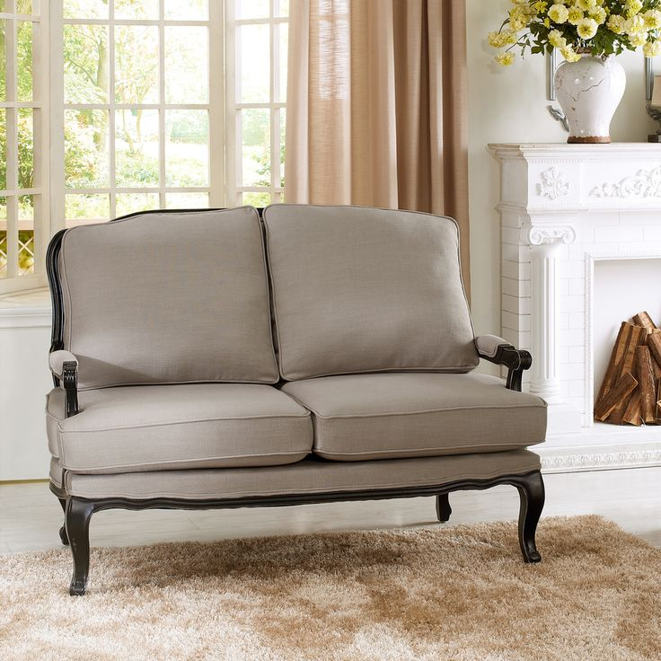 Idea For The Sofa.  Meg Love This Gray Antoinette Classic Antiqued French  Loveseat By Baxton Studio On
