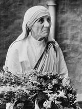 Albanian-born Roman Catholic nun Mother Teresa of Calcutta (Agnes Gonxha Bojaxhiu), who has devoted her life to helping the poor. She was awarded the Nobel prize for peace in 1979 for her charitable works. (October 1979)