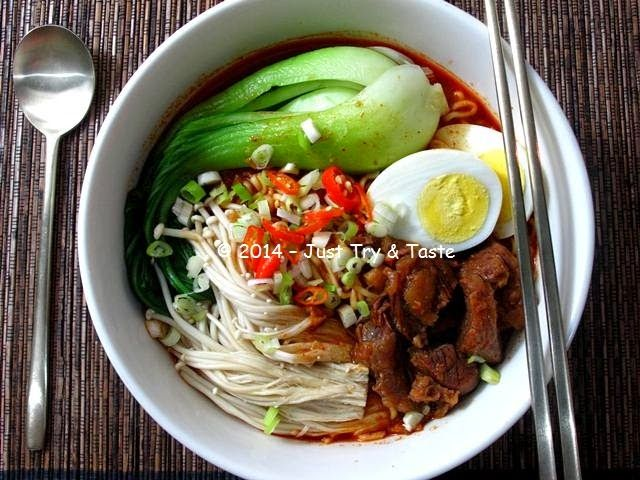 Just Try & Taste: Korean Ramyun - Mie Kuah Pedas Korea a la Just Try & Taste