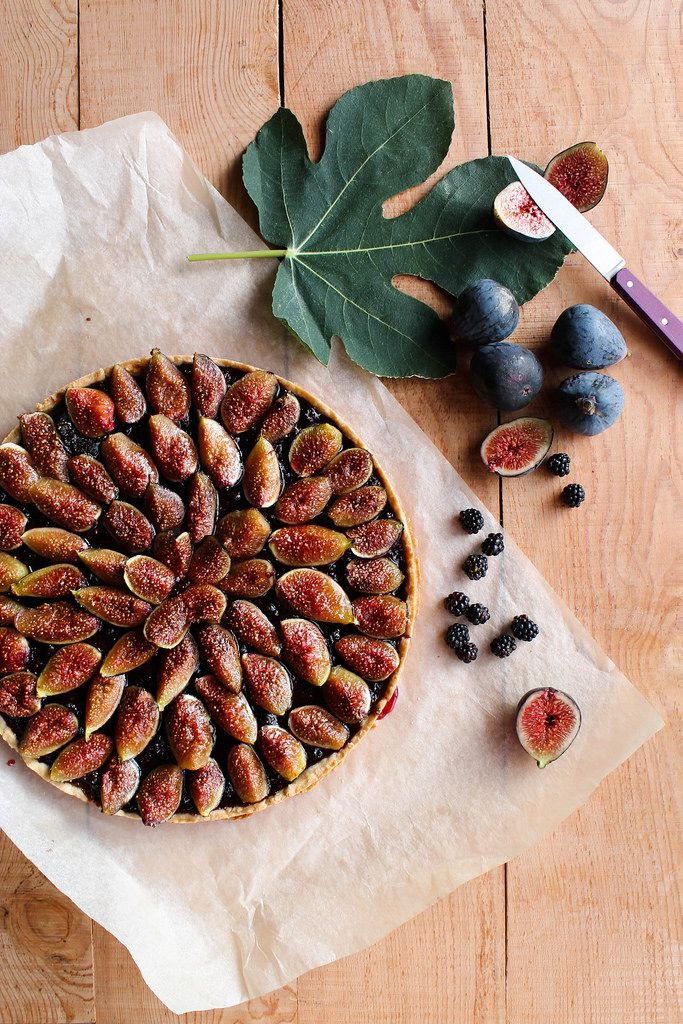 Tarte aux figues et aux mûres {vegan} - aime & mange
