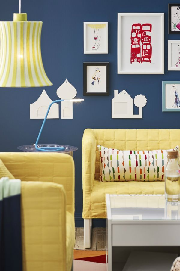 Bring Some Brightness Into Your IKEA Living Room With Colorful Accent Furniture