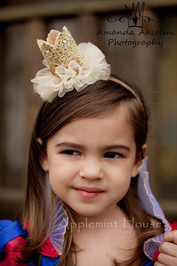 Birthday Baby Crown Headband/Princess crown/girl by APPLEMINTHOUSE