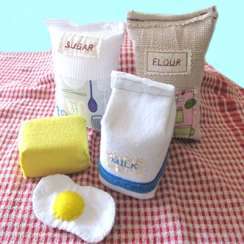 Play Food Baking Set, Soft Pretend Food