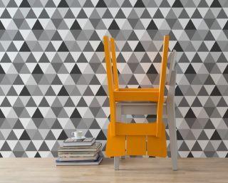 Adesivo papel de parede Quartzo - Preto e Branco