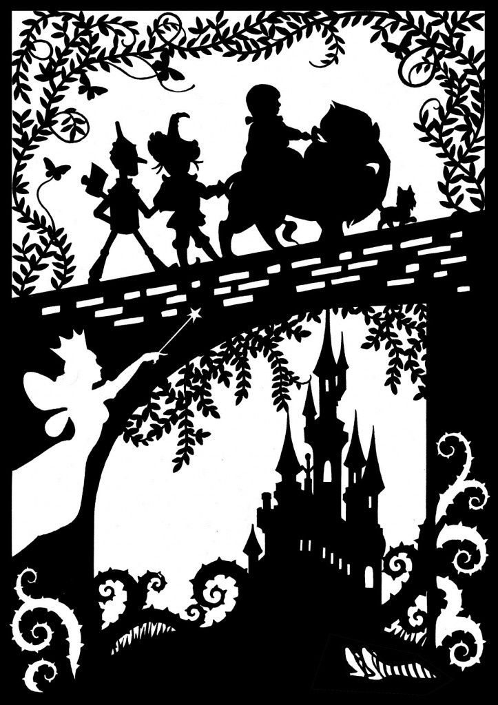 wizard of oz silhouettes | The Wonderful Wizard Of Oz Paper Cut - The Supermums ... | Silhouette. Link no longer works.
