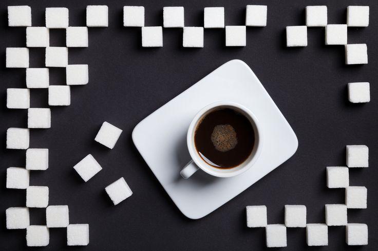 Coffee with sugar -