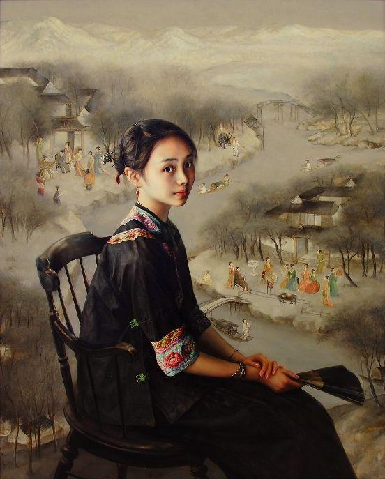 Китайская живопись. Zhao Kailin Site, родился в Bengbu, провинция AnHui, China, в 1961 году. В 1991 окончил школу Центральной академии изящных искусств, Пекин, Китай. 1992-1994 годы, по контракту с галереей Kurt Svenccons провел с большим успехом персональные выставки живописи в Стокгольме, Швеция. В 2003 году эмигрировал в Лос-Анджелес, Америка. Является членом Общества портретистов Америки.