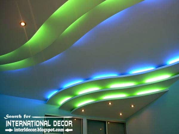 LED ceiling lights, LED strip lighting in the interior | cielos gypsum |  Pinterest | Interiors, Ceilings and Led