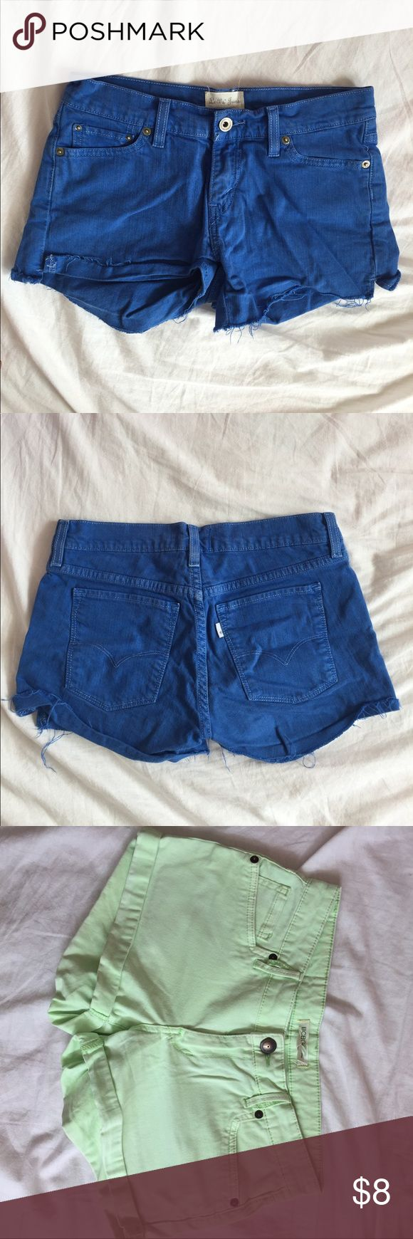 Shorts bundle Both fit true to size. Only the limb color one is BCBGeneration. BCBG is size 25 but fits like 26 BCBGeneration Shorts