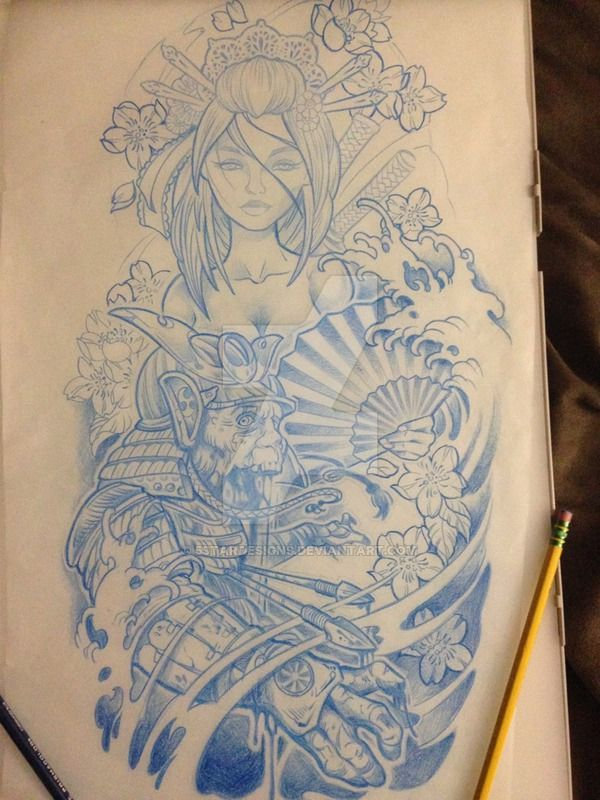 geisha sketch 2 by 5stardesigns