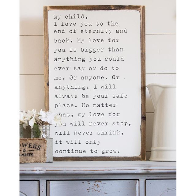 BRAND NEW sign heading to tomorrow mornings restock! I saw this quote and just loved it so much! #nurserydecor #nurseryinspo #farmhouseshop