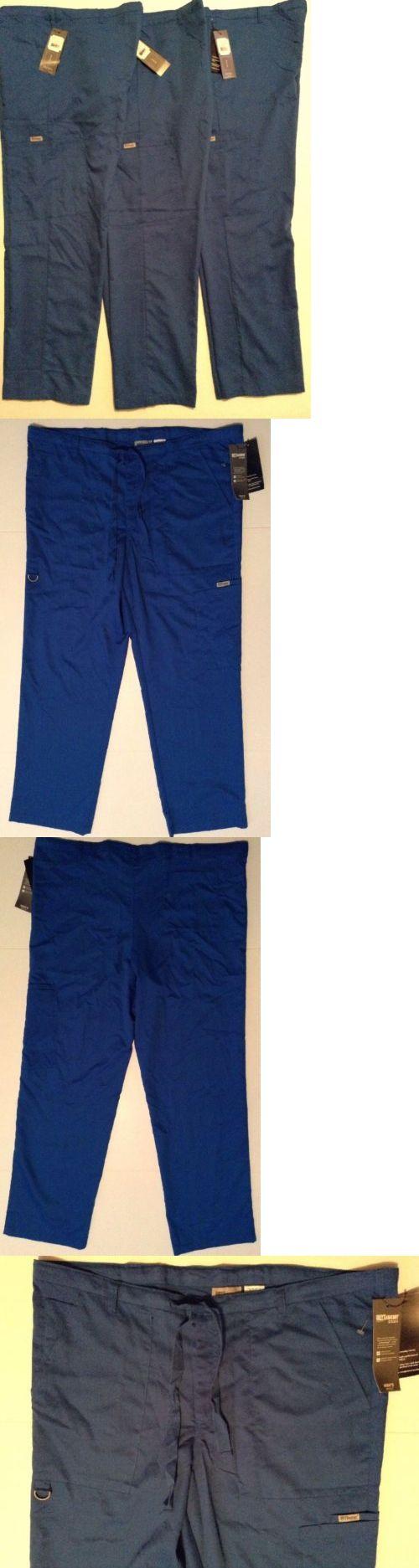 Bottoms 105422: Lot Of 3 Greys Anatomy Mens Scrub Pants 6 Pocket Drawstring Zip Fly Sz L Royal -> BUY IT NOW ONLY: $53.99 on eBay!