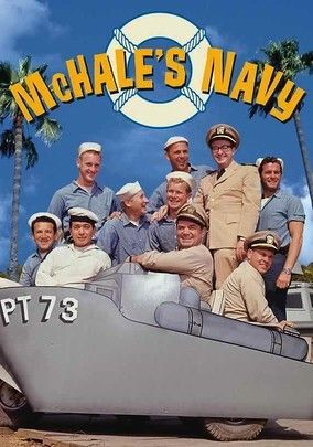 McHale's Navy (1962) This classic 1960s sitcom follows Lt. Cmdr. Quinton McHale (Ernest Borgnine) and the rebellious crew of eccentrics aboard PT-73 during World War II as they sail the South Pacific and fight both the enemy and the strict naval regulations that they constantly flout. McHale's bumbling ensign, Parker (Tim Conway), tries to enforce the rules, but the sailors genially ignore him as they concoct plots to torment pompous Capt. Binghamton (Joe Flynn).
