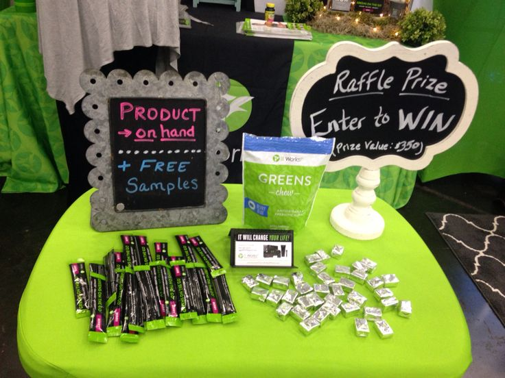 Product samples at booth www.LaurenCCarroll.ItWorks.com