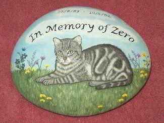 Pet Memorials - Pet Headstones - Pet Grave Markers - Painted On a Rock