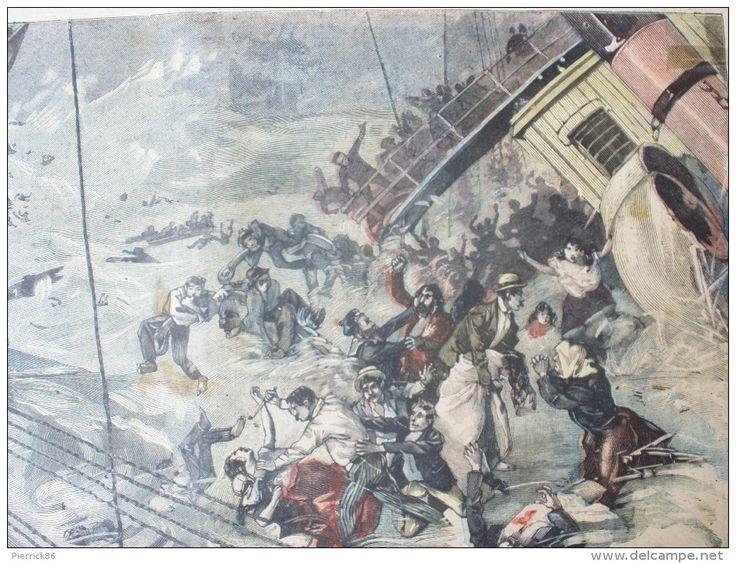 1898 NAUFRAGE DE LA BOURGOGNE / LE VRAI 14 JUILLET JACK ABEILLE / LE PETIT MARSEILLAIS N° 2