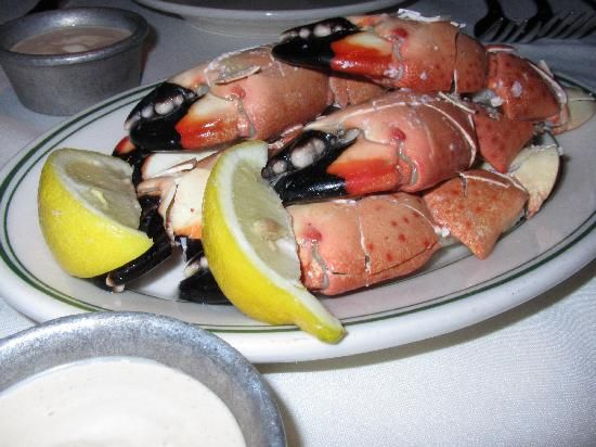 Stone Crabs-Joe's Seafood, Prime Steak and Stone Crab. FOR LUNCH