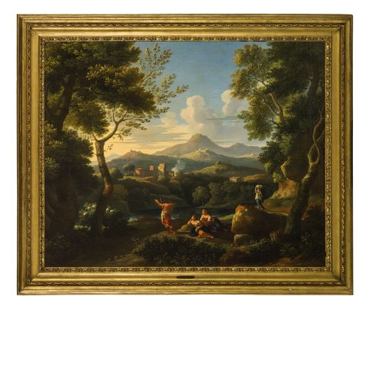 JAN FRANS VAN BLOEMEN veduta del Tevere con il monte Soratte