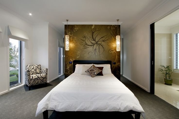 Make a statement! Use a feature wall to give your bedroom an edge.