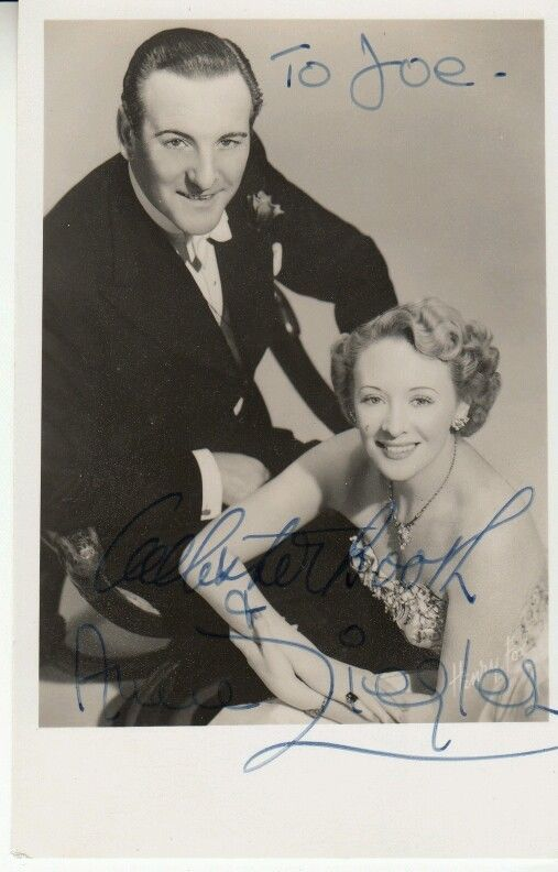 ANNE ZIEGLER & WEBSTER BOOTH HAND SIGNED AUTOGRAPHED 6x4 PHOTO