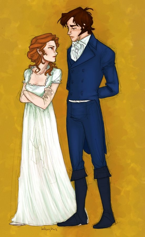 Love this pic of Elizabeth and Darcy.  Great book!! --> this one's colored! first_impressions_x_burdge_bug_by_carolsart69-d3foiqx
