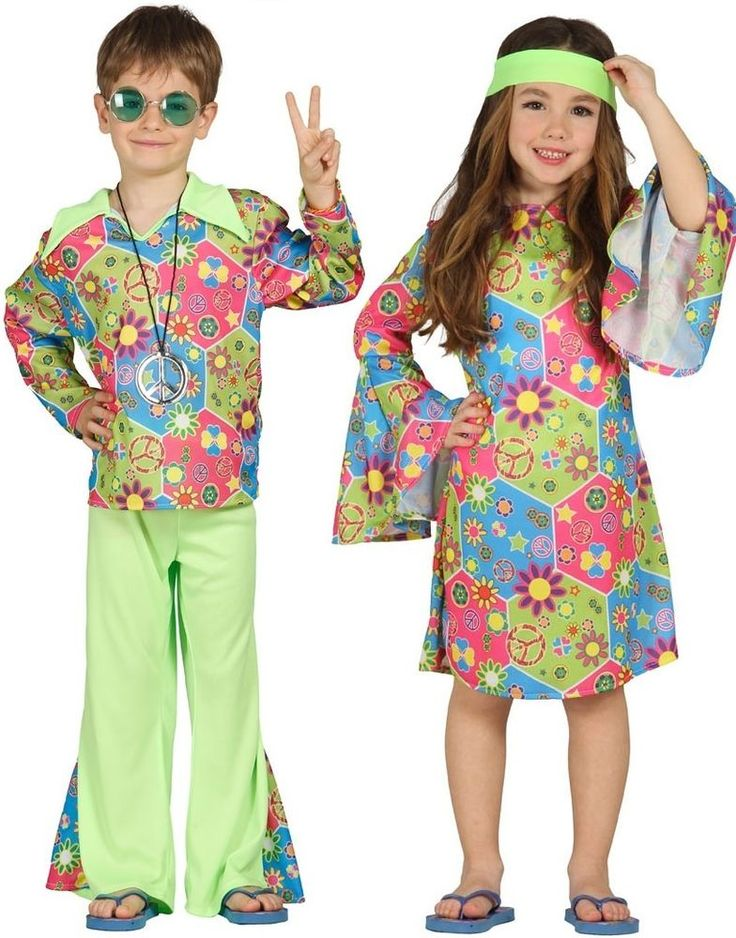 Boys or Girls Green 1960s Hippie Hippy Fancy Dress Costume Outfit 3-12 years #Unbranded #CompleteOutfit