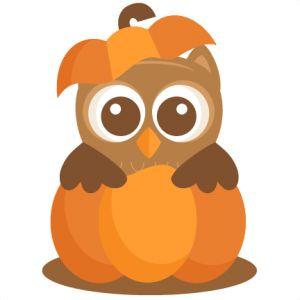 Owl in Pumpkin: Miss Kate Cuttables--SVG scrapbook cut file cute clipart files for silhouette cricut pazzles free svgs free svg cuts cute cut files