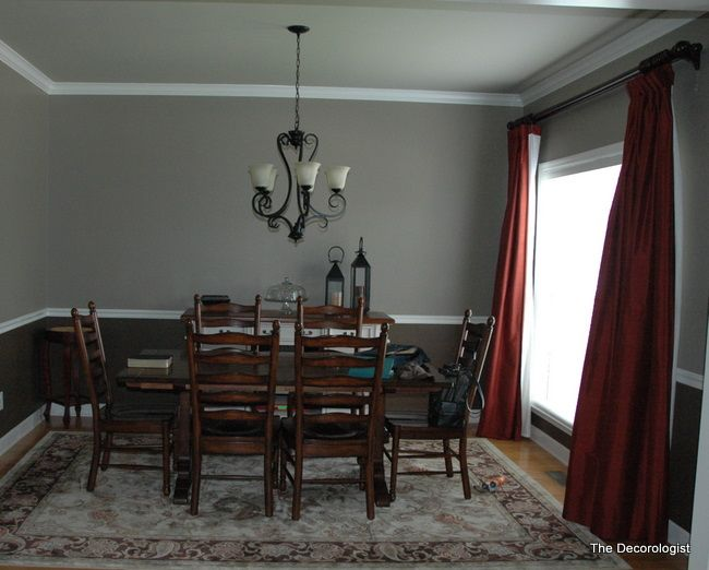 Dining Room Color Schemes Chair Rail 18 best dining room with a chair rail images on pinterest | dining