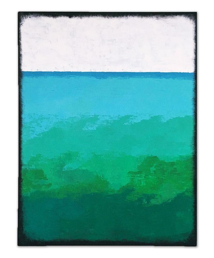 """""""Green horizon 1"""", 88x114 cm by Stellan Kristiansson"""