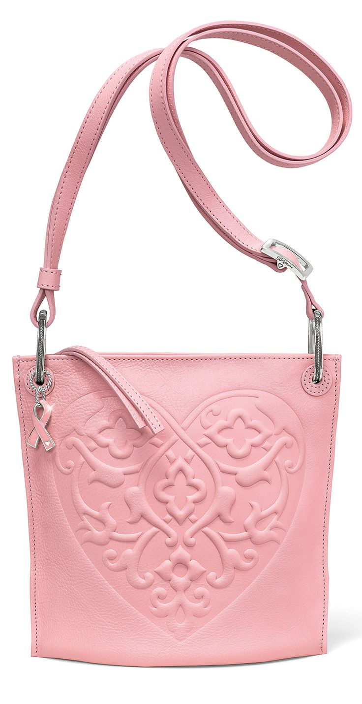 Power of Pink 2015 Pouch is accented by a cute pink ribbon charm to support breast cancer awareness. #BrightonGivesBack