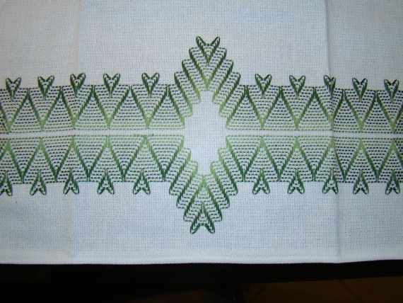 Swedish Weaving Embellished Towels Set of 2 by FuzzyDuckCreations, $25.00