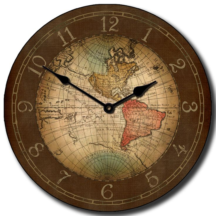 25 best map clocks images on pinterest world maps big clocks and our most popular map clock 17th century map clock is a sophisticated piece of artwork gumiabroncs Image collections