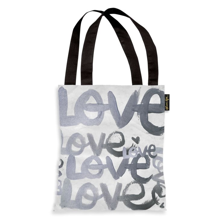 Oliver Gal 'Four Letter Word Silver' Tote Bag, Women's
