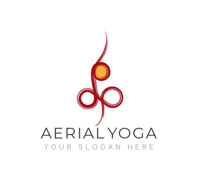 Branding For Yoga Classes Which Focus On Aerial Yoga It Can Also Be Used By A Yoga Instructor Business Card Logo Affordable Logo Aerial Yoga