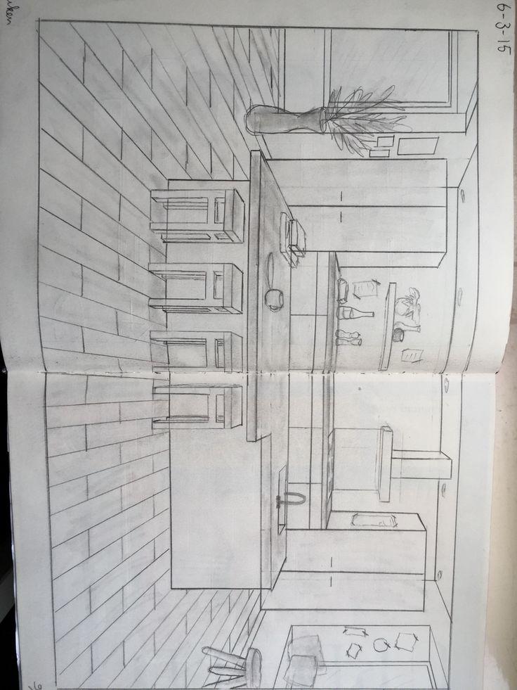 Keuken 1 puntsperspectief