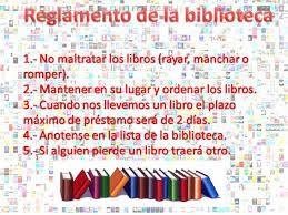 Resultado de imagen para reglamento de una biblioteca