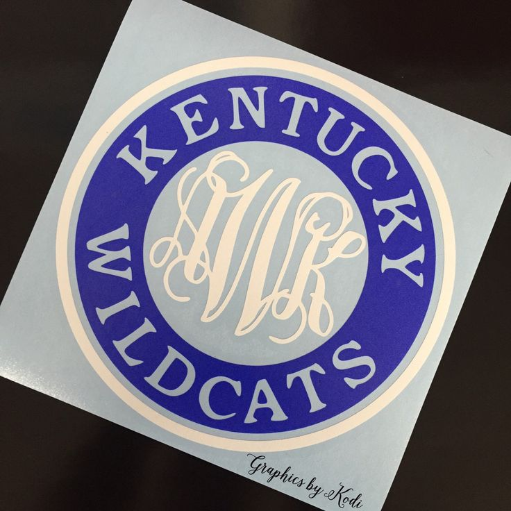 Monogrammed Kentucky Wildcats Decal - Kentucky Wildcats - Sticker by GRAPHICSBYKODI on Etsy https://www.etsy.com/listing/265933612/monogrammed-kentucky-wildcats-decal