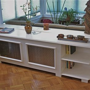 Radiator Cover With Bookcase by Richard Weinstock